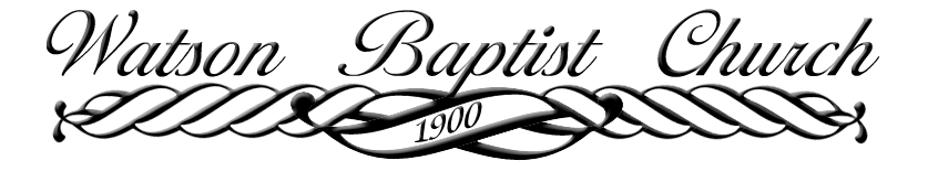 Watson Baptist Church Blog